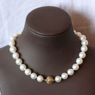 120 gram - Zuidzee parelcollier- Yellow gold - Ø 13 x 16,2 mm South Sea Pearls - Parel